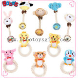 Wholesale Squeaky Cotton Rope Plush Animal Shape Pet Toy for Dog Cat Bosw1065/15cm
