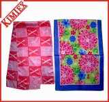 High Quality Printed Silk Scarf for Promotion