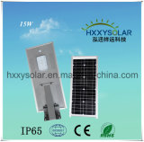 15W All-in-One Solar Powered Integrated LED Street Light