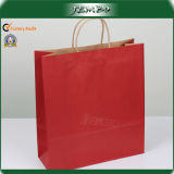 Red Printing Plain Light Weight Paper Carrier Bag