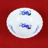 Blue Cherry Hand-Painted Round Soup Bowl