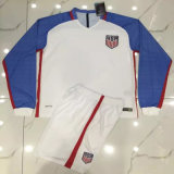 2016/2017 USA White Long Sleeve Football Uniforms. Dry Fit Jerseys