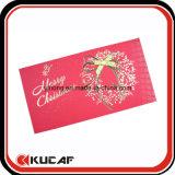 Custom Printing Pretty Hot Stamping Christmas Greeting Card