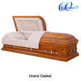 Solid Oak Willow Brook Coffin Glass Casket Used Coffins