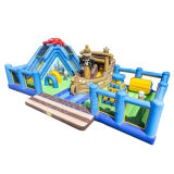 Pirate Ship Inflatable Slide Combo/Inflatable Amusement Park for Kids CO2901