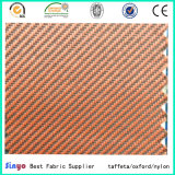 PVC Laminated 100% Polyester 600d Duotone Twill Fabric for Luggage