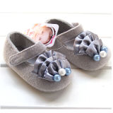 Spring New Child Shoes Girls Pearl Shoes Soft Bottom Indoor Baby Prewalker