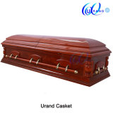 Best Quality American Veneer Casket Type Made by Local Coffin and Casket