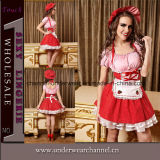 Hot Sale Sexy Women French Maid Adult Party Costume (TEU868)