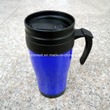Double Wall Plastic Thermal Travel Coffee Mug with Lid