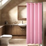 100%Polyester Wrinkle-Resistant Waterproof Solid Bathroom Shower Curtain (01S0082)