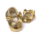 Delebao Infant Toddler Baby Soft Sole Tassel Bowknot Moccasinss Crib Shoes, Various Colors