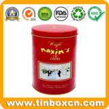 Embossed Oval Metal Chocolate Coffee Tin Box with Food Safe