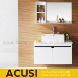 Modern White Lacquer Plywood Bathroom Cabinet with Wash Basin (ACS1-L62)