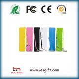 OEM ABS Mini Rectangular 2600mAh Li-ion Battery Portable Power Bank