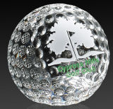 Crystal Glass Golf Paperweight