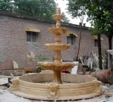 Marble/Granite Fountain Villa/Garden Decoration Animal Sculpture Natural Stone Fountain