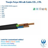 Aluminum/Copper Conductor Rubber Insulated Electrical Cable Outdoor Underground Waterproof Electric Wire Flexible Power Cable for Submersible Motors