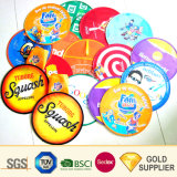 Manufacturer Promotional Cheap Custom Round Colorful Durable Non Toxic Super Soft Polyester Flying Mini Size Baby Children Recreation Playing Gift Fold Frisbee