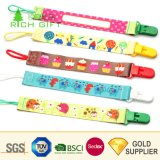 Manufacturer Wholesale Custom Logo Cute Plastic Baby Teething Pacifier Holder Clips Chain Plush Metal Silver Cotton Braided Animal Bandana Toy Pacifier Case