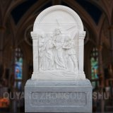 White Marble Carving Stations of The Cross 14 Scenes