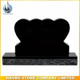 Cheap Black Granite Double Heart Headstone Monument
