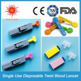 Disposable Sterile Twist Blood Lancet for Single Use 21g 23G 25g 28g 30g