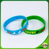 Top Quality Silicone Wristband with Embossed Paint Custom Logo