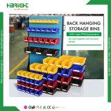 Hardware Store Back Hanging PP Reusable Storage Plastic Bins for Rack