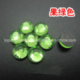 Iron on Crystal Hot Fix Rhinestones in Bulk Crystal for Flat Glass Stones Wholesale (HF-ss20 peridot /3A)