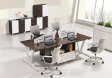 Modern Melamine Staff Metal Veneer Manager Computer Office Table