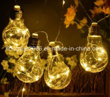 3 AA Battery Operated LED Clear Bulb Copper String Lights, 10 Bulbs Warm White Globe LED Wire Hanging Light for Christmas Halloween Wedding Party