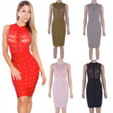 Club Dress Beaded Bandage Dress Celebrity High Quality Cocktail Dresses