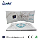 Video Card/Video Greeting Card/Video Business Card with 2.8 Inch LCD