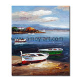 Wholesale Boat by Sea Canvas Decorative Oil Painting