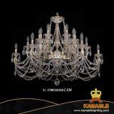 European Hotel Project Pendant Light Brass Crystal Chandelier (1709/18/410C GW)