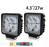 4.3inch 27W Squar IP68 2700lm Epistar LED Work Light for for Trucks/ATV/UTV/Offroad