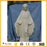 White Stone Marble Statue of Virgin Mary High Quality, Religious Statue Sculpture