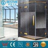 High Quality 304 Ss Hinge Bathroom Golden Shower Enclosure Bl-0005-L