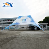 PVC Fabric Double Peak Star Tent with Digital Logo for Outdoors Event