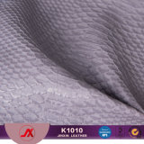 Snakeskin Pattern Artifical Leather PVC Synthetic Leather Embossing Pvcfaux Leather for Handbag/Shoes/Sofa