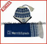 Jacquard Acrylic Knitted Hat Scarf Glove