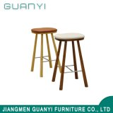 Industrial Style Fabric / Leather Seat Wood Frame Bar Stool High Chair