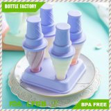 Popsicle Ice Mold Maker Set – 4 PCS BPA Free Assorted Colors Ice Pop Mold Holders with Tray – Fun for Kids and Adults