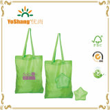 Recycled Eco Waterproof Cheap Folding Polyester Nylon Shopping Bag with Star Pouch