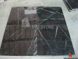 Nero Marquina Black Marble Flooring Tile for Interior