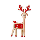 Wooden Reindeer Advent Calendar for Christmas Decoration in Stock