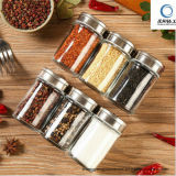 Wholesale 100% No-Lead Glass Kitchen Spice Bottle with Metal Lid