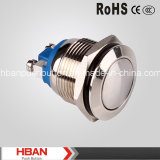Hban (19mm) CE RoHS Dome Momentary Metal Push Button Switch