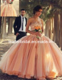 Coral Pageant Organza Ball Gown Vestidos Quinceanera Dresses (Q252)